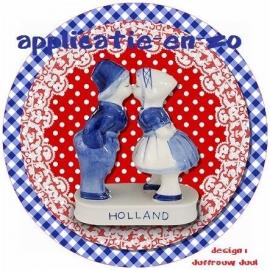 SUPER full color applicatie Hollands zoenend setje (rond)