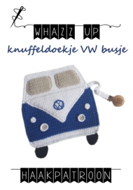 WHAZZ UP haakpatroon knuffeldoekje vw bus