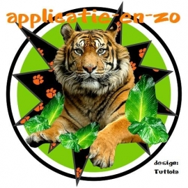 SUPER full color applicatie tijger