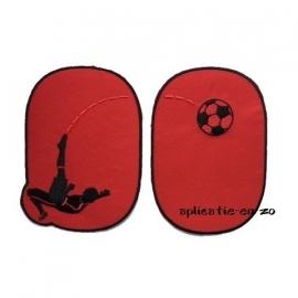 kniestukken voetballer opstrijkbaar (2stuks)