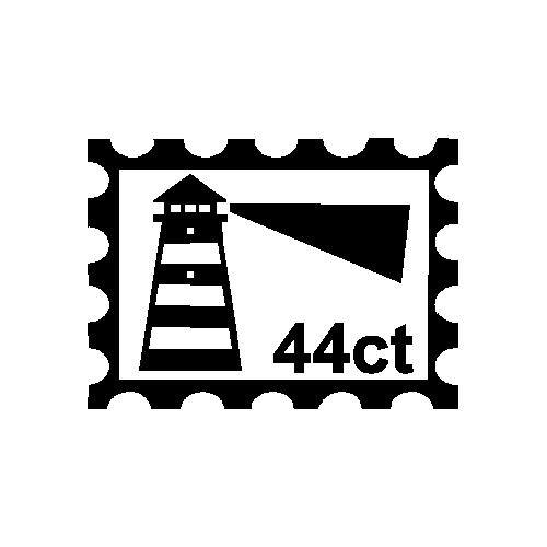 veloursmotief postzegel vuurtoren