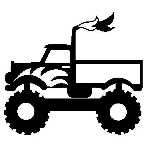 veloursmotief monster truck