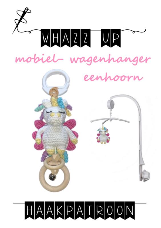 WHAZZ UP haakpatroon eenhoorn voor mobiel/ box/ wagenhanger
