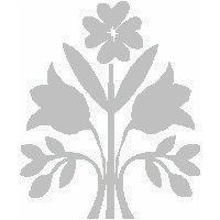 veloursmotief boeket bloemen wit