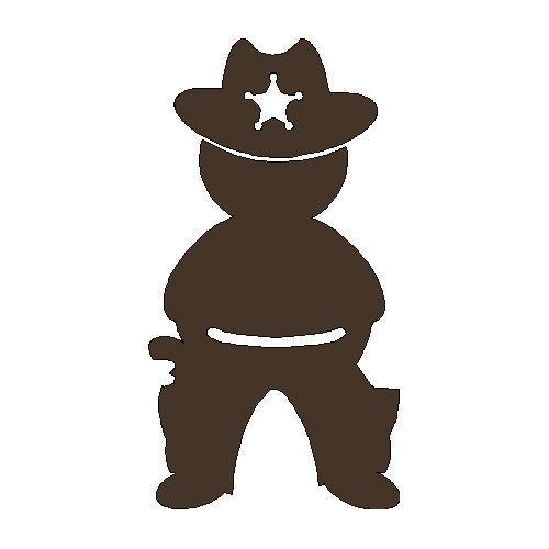 veloursmotief cowboy