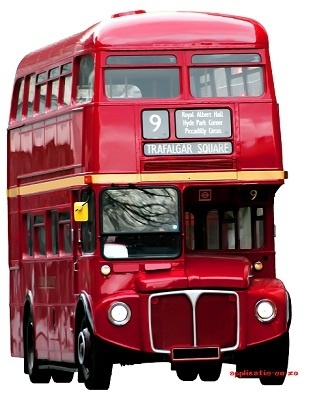 SUPER full color strijkapplicatie London bus