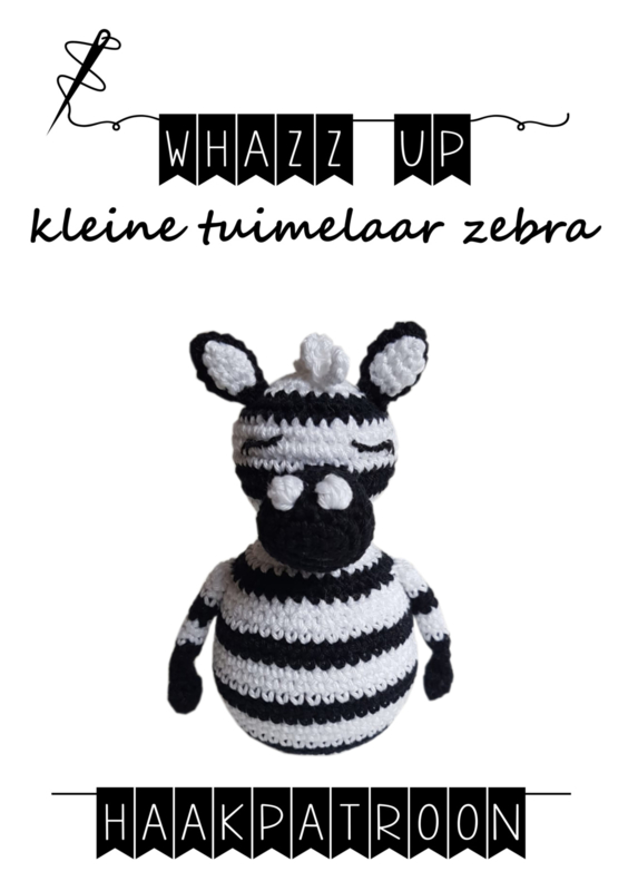 WHAZZ UP haakpatroon tuimelaar zebra klein