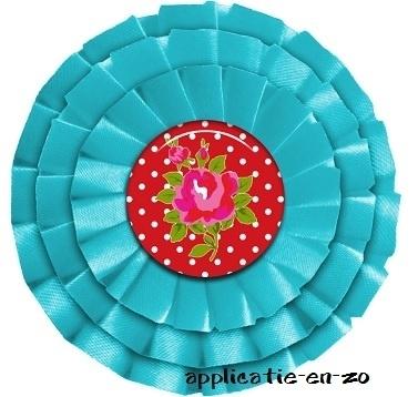 WHAZZ full color strijkbutton aqua