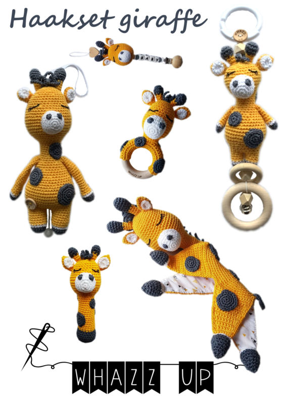 WHAZZ UP haakboekje (set) giraffe