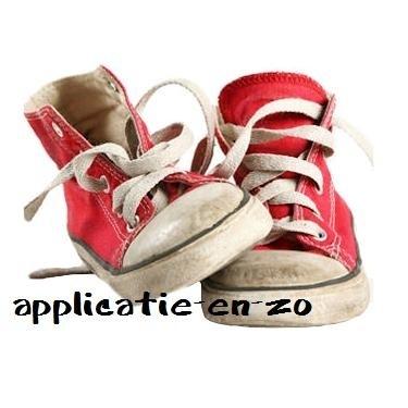 SUPER full color strijkapplicatie sneakers