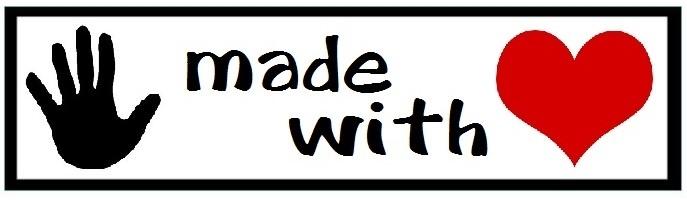 labels handmade with love (3 stuks opstrijkbaar)