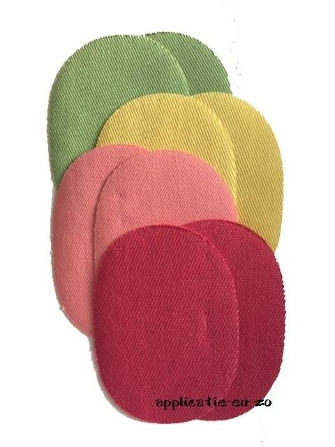 kniestukken 8! stuks gekleurde jeans (opstrijkbaar)