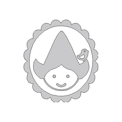 zilveren opstrijk motief zus in frame