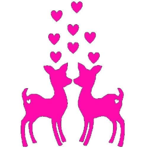 veloursmotief verliefde hertjes