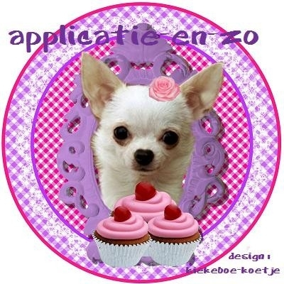 SUPER full color applicatie chihuahua rond