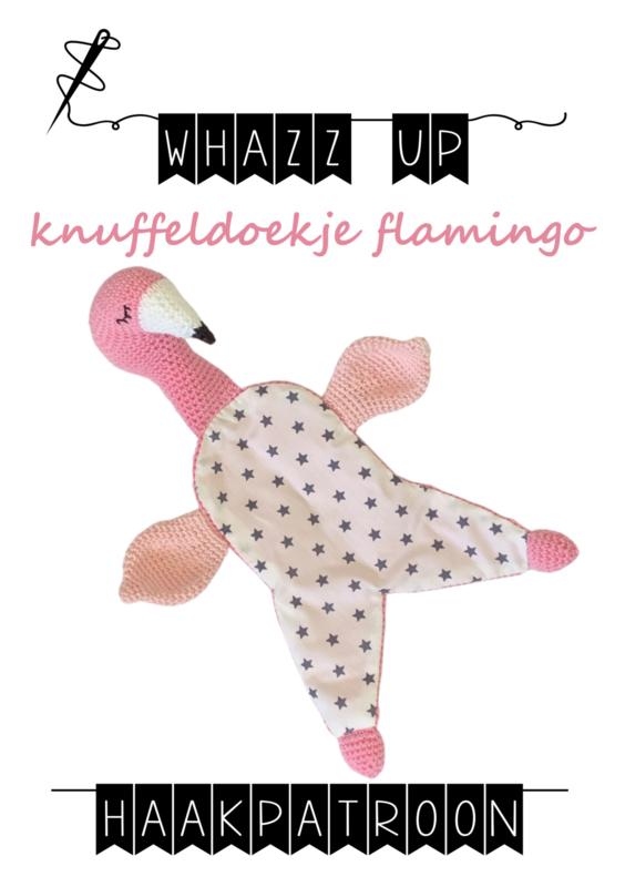 WHAZZ UP haakpatroon knuffeldoekje flamingo