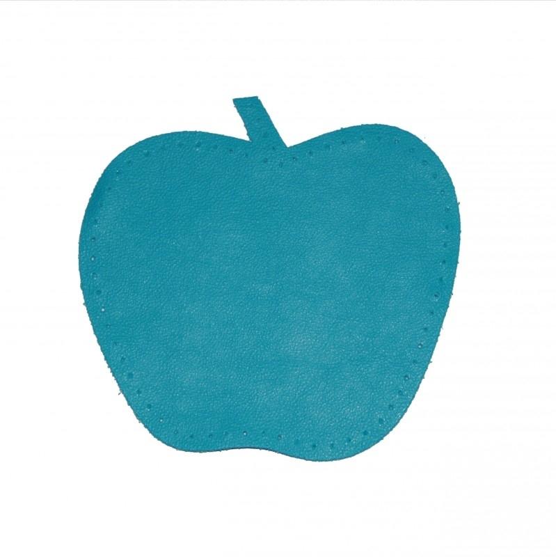 kniestukken appel blauw (2 stuks)