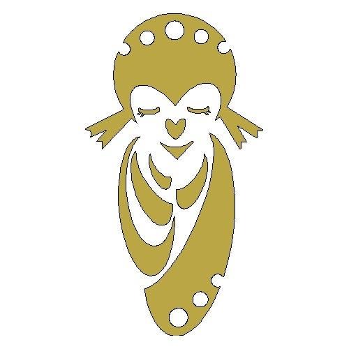 gouden opstrijk motief geisha