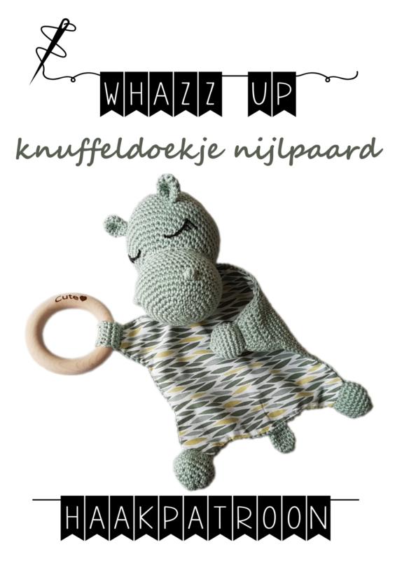 WHAZZ UP haakpatroon knuffeldoekje nijlpaard