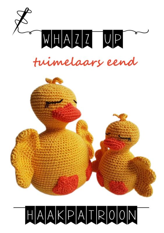 WHAZZ UP haakboekje (set) tuimelaars eend