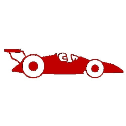 veloursmotief rode race auto