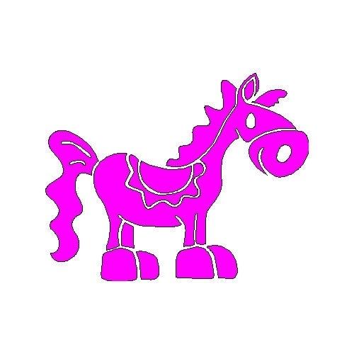 veloursmotief paardje