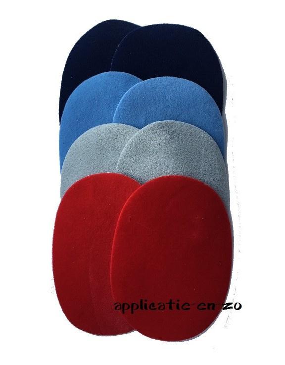 kniestukken 8! stuks gekleurd suedine (opstrijkbaar)