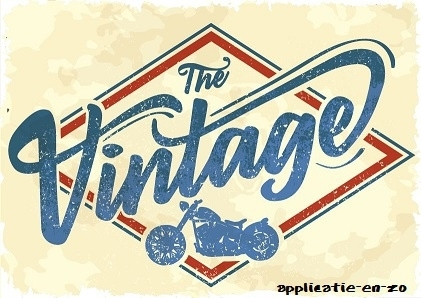 SUPER full color strijkapplicatie 'the vintage'