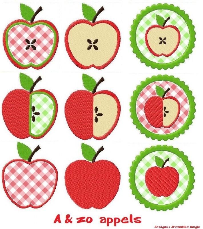 serie van 9 appel patroontjes