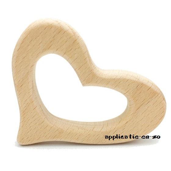 Bijtring hartje hout