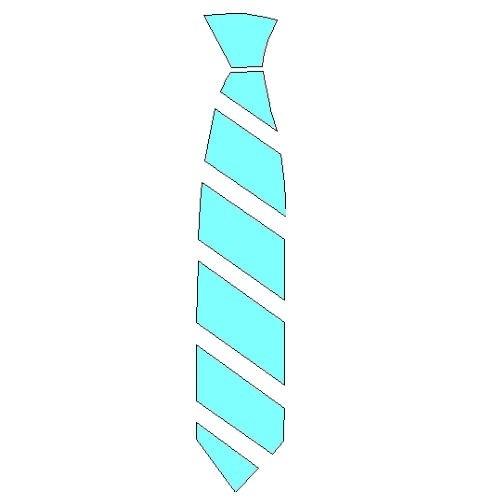 veloursmotief kleine stropdas
