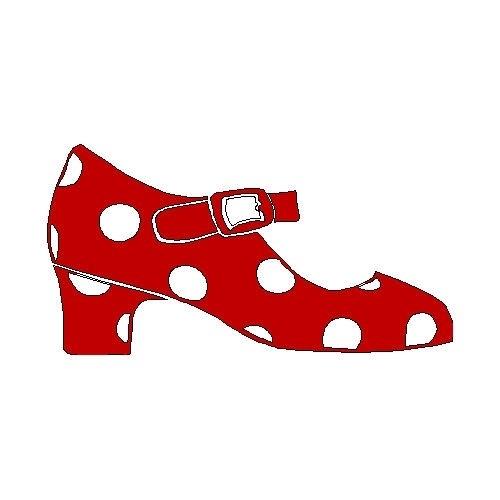 veloursmotief flamenco schoen