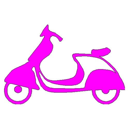 veloursmotief scooter donker roze/ fuchsia