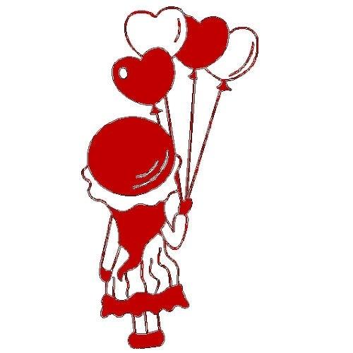 veloursmotief Jill met balonnen