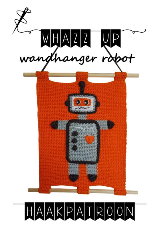 WHAZZ UP haakpatroon wandhanger robot (PDF)