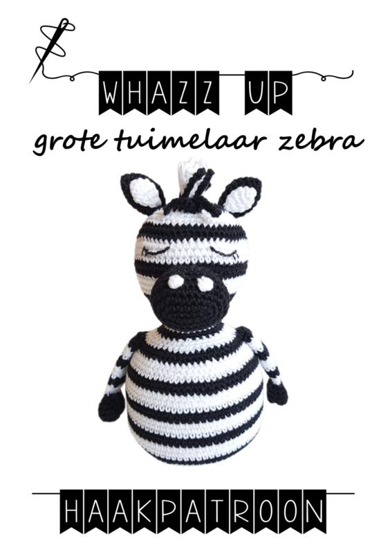 WHAZZ UP haakpatroon tuimelaar zebra groot