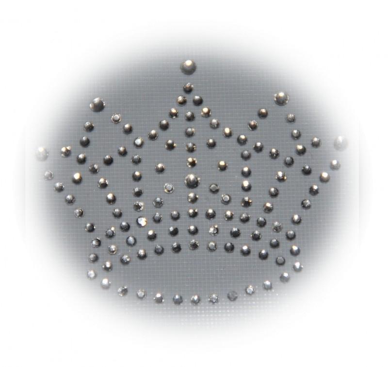 Rhinestone strijkapplicatie kroon
