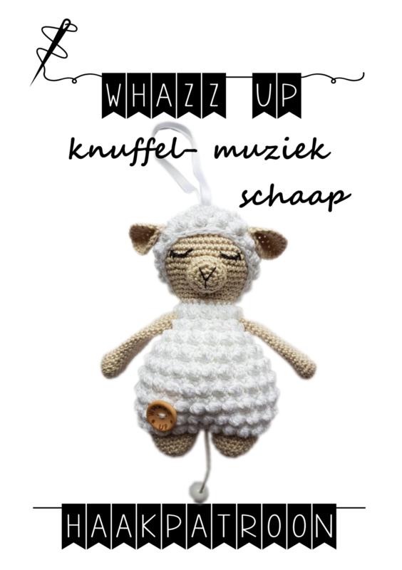 WHAZZ UP haakpatroon knuffel/ muziek schaap
