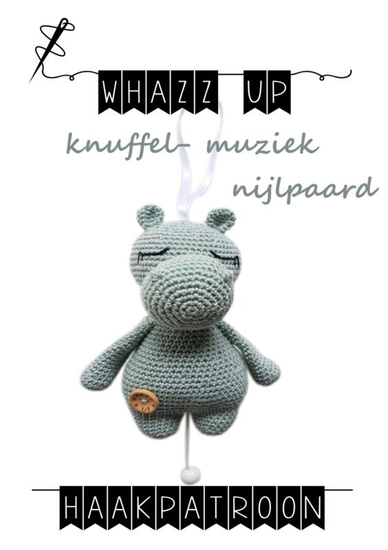 WHAZZ UP knuffel/ muziek nijlpaard