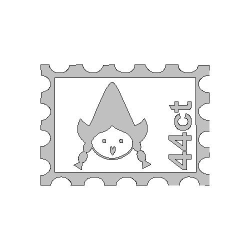veloursmotief witte postzegel Zus