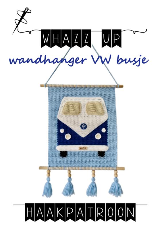WHAZZ UP haakpatroon wandhanger vw bus
