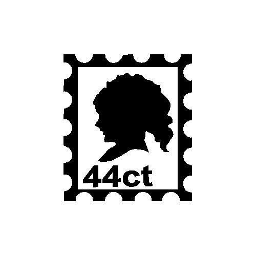 veloursmotief postzegel silhouette