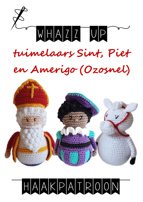 WHAZZ UP haakboekje (set) tuimelaar Sint, Piet en Amerigo (Ozosnel)