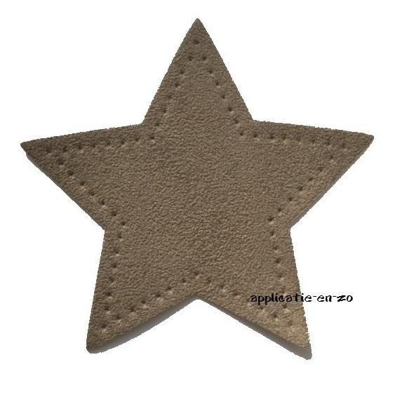 kniestukken ster zand (2st) opstrijkbaar