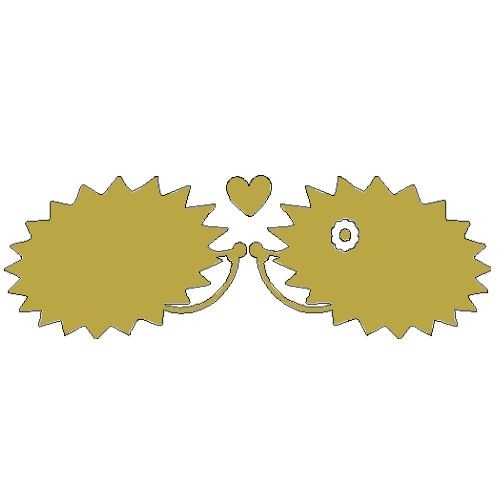 gouden opstrijk motief verliefde egeltjes