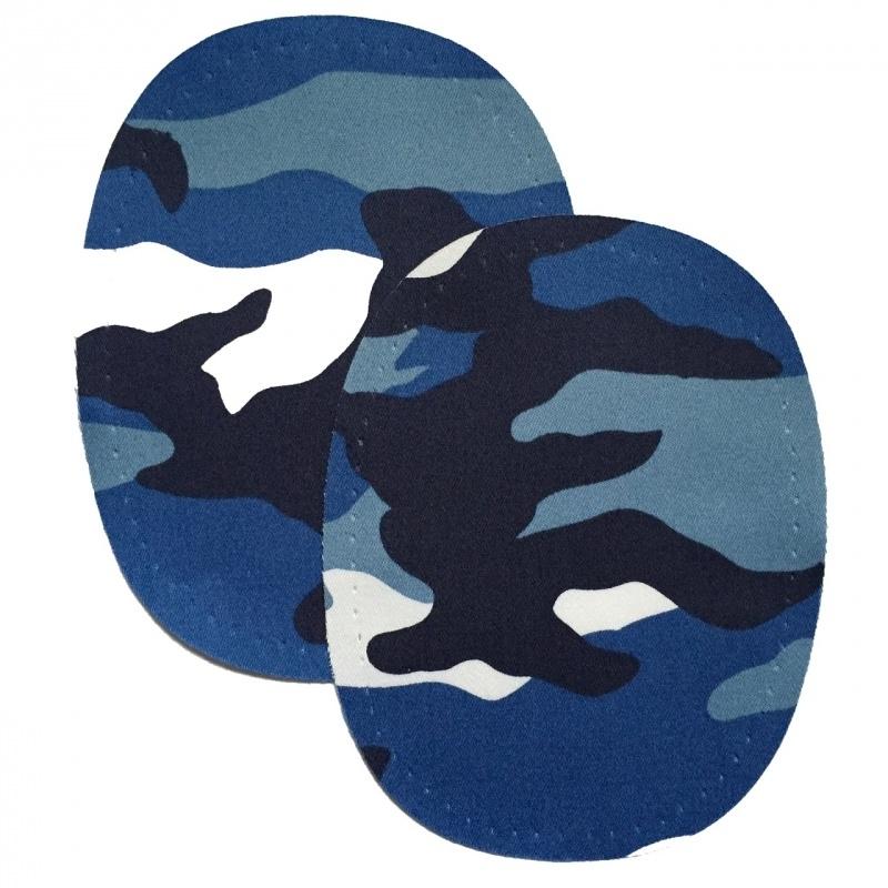 kniestukken army blauw (opstrijkbaar)