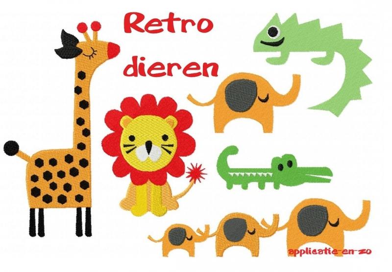 serie patronen van retro dieren