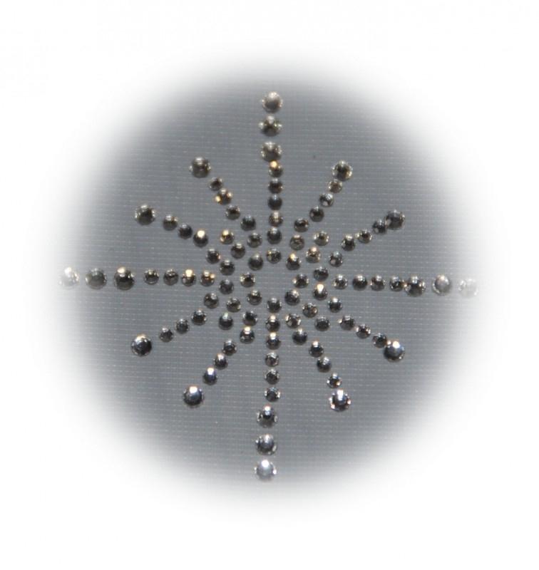 Rhinestone strijkapplicatie ster 12 stralen