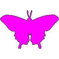 veloursmotief vlinder donker roze/ fuchsia
