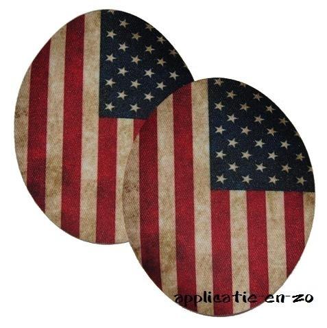 kniestukken stars and stripes (2st) opstrijkbaar